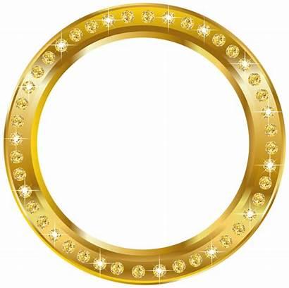 Round Frame Gold Border Clipart Clip Transparent