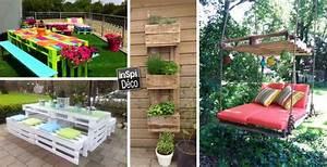 creations en palettes pour votre jardin 20 idees With idee pour jardin exterieur 3 les palettes reinventent le mobilier de jardin