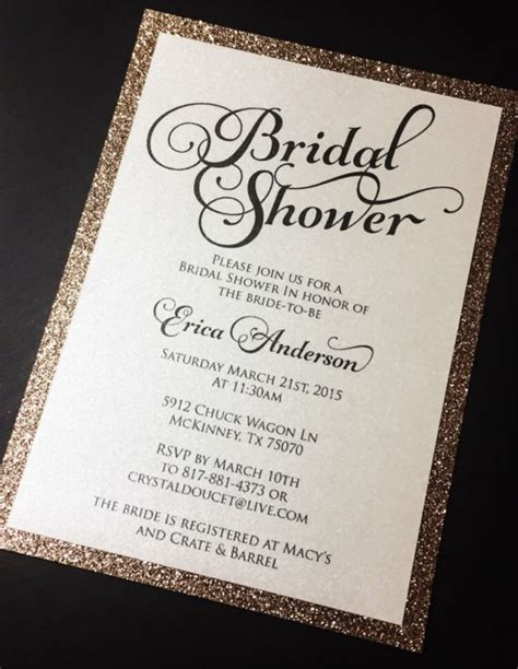 Glitter Bridal Shower Invitations by Best 20 Bridal Shower Invitation Wording Ideas On