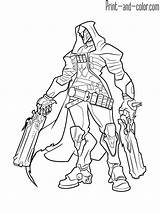 Overwatch Coloring Pages sketch template