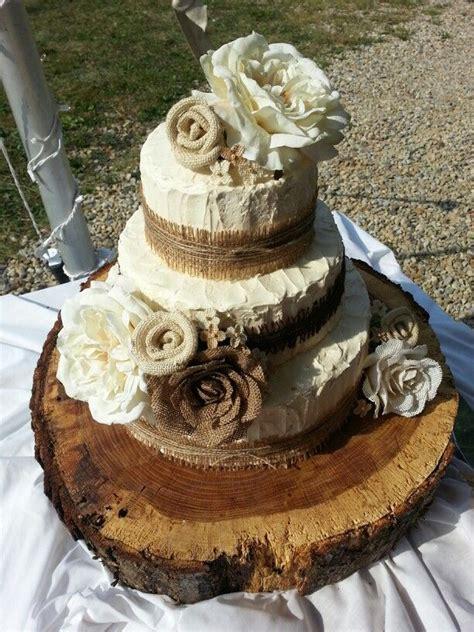 Beautiful Rustic Theme Wedding Cake Wedding Wedding
