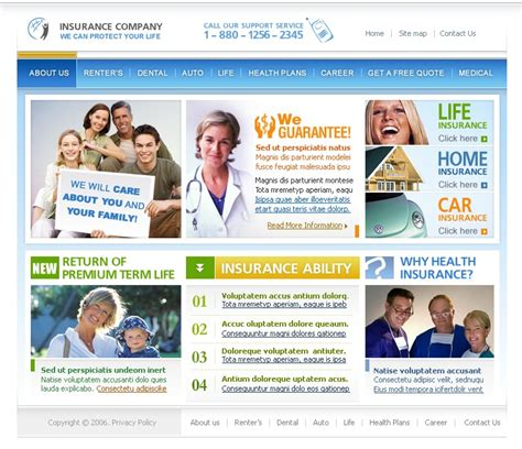 At this day and age, website templates for an insurance organization hold paramount importance. Insurance Website Template #10328