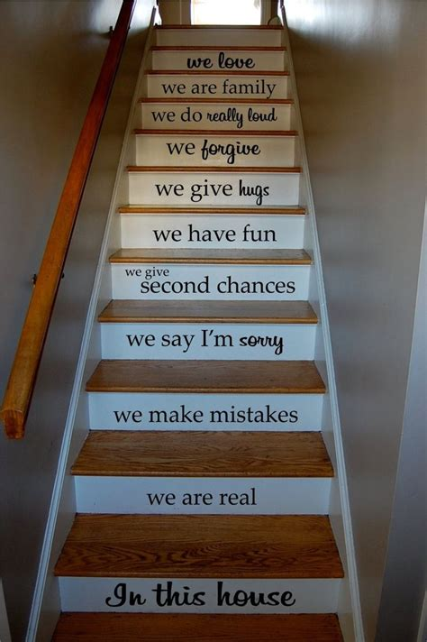 Decorating Ideas With Quotes by 25 Best Ideas About Staircase Wall Decor On