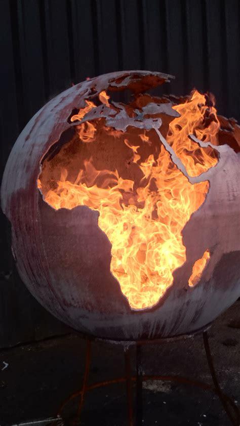 fire sphere fire ball mm sculptural fire pit