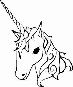 Unicorn Head Clipart Black And White | Clipart Panda ...