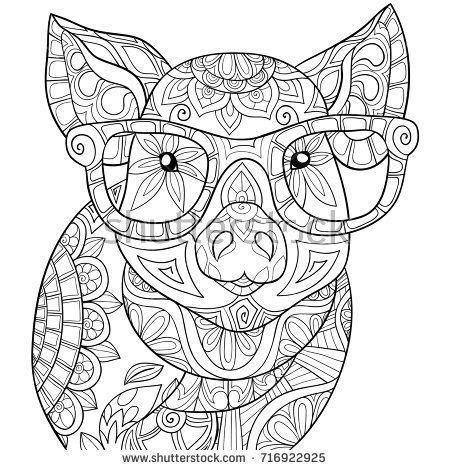 image result  mandala pig animal coloring pages