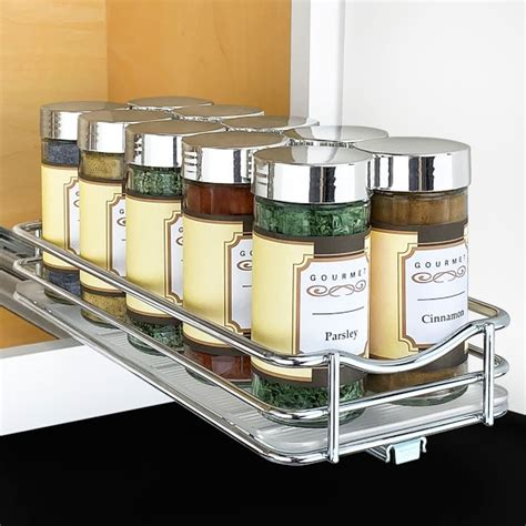 Williams Sonoma Spice Rack by Lynk Slide Out Single Tier Spice Rack Williams Sonoma