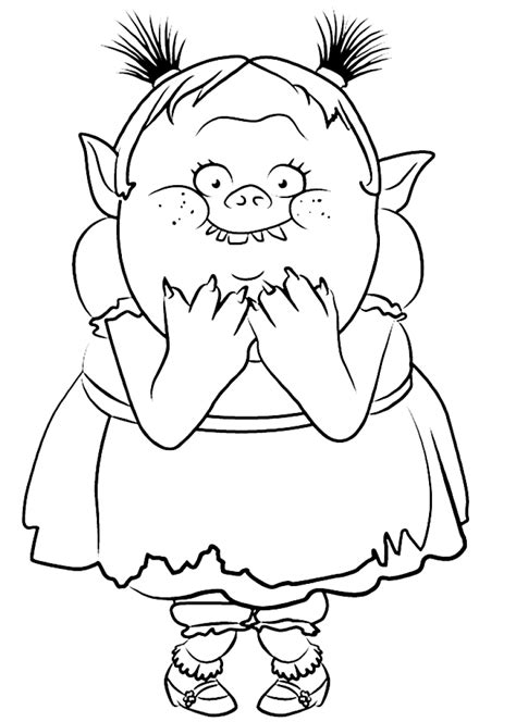 30 printable trolls coloring pages