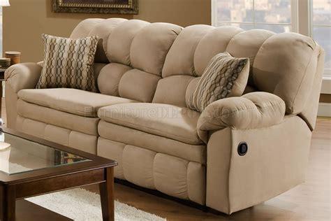 hazelnut microfiber reclining sofa loveseat wpillow arms