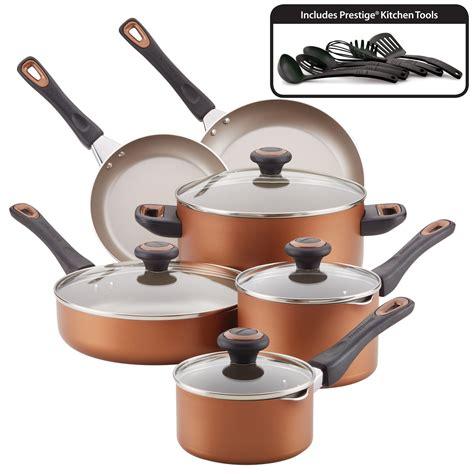 farberware  piece nonstick pots  pans setcookware set copper walmartcom   pots