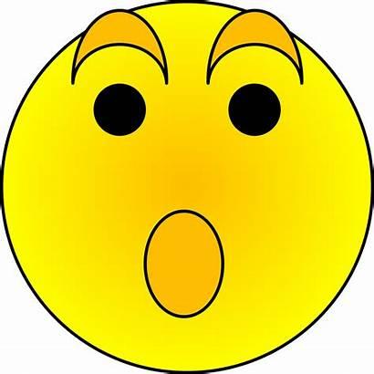 Surprised Face Smiley Cartoon Clipart Clip Surprise