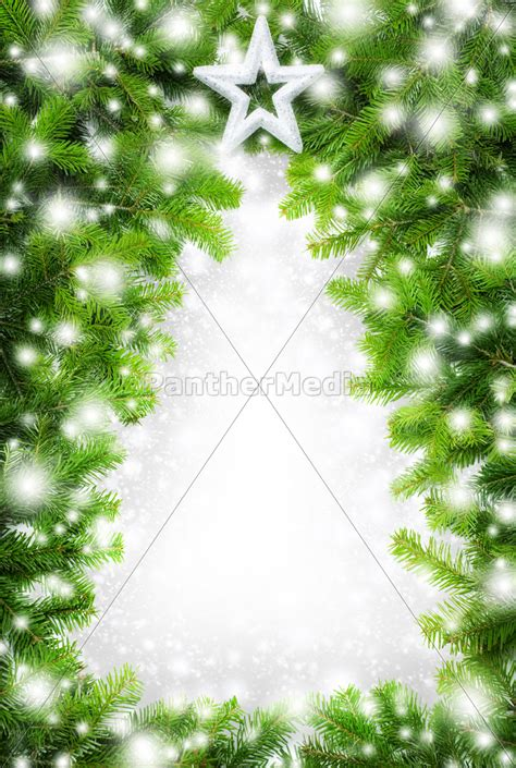 Weihnachtsbaum Aus Tannenzweigen by Kreativer Rahmen Quot Weihnachtsbaum Im Schnee Quot Lizenzfreies