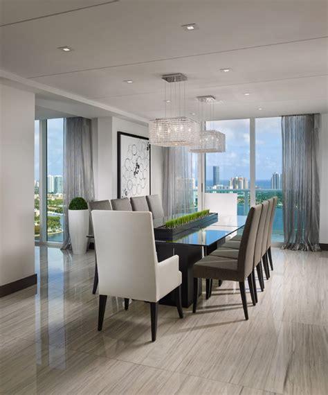 penthouse contemporary dining room miami  guimar