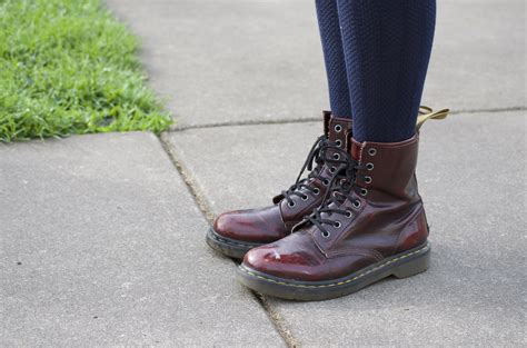 Pics For u0026gt; Cherry Red Doc Martens Outfits