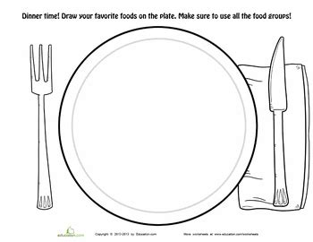 dinner plate coloring page  images food pyramid