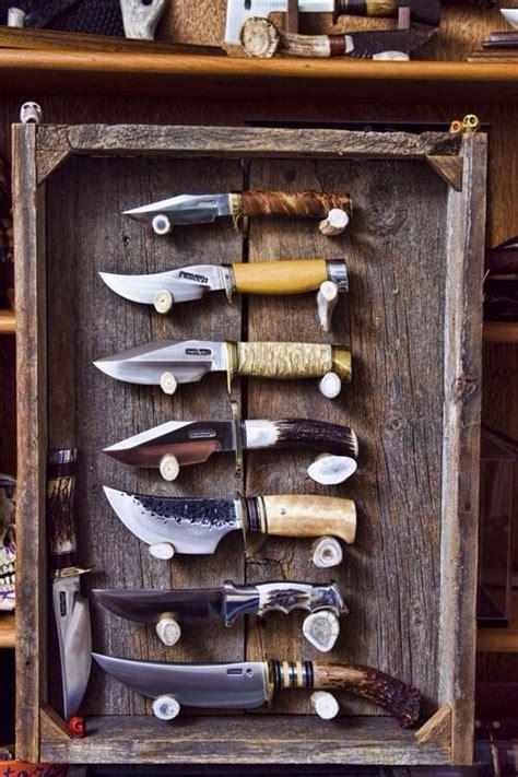 rustic knife display knife display case knife knife making