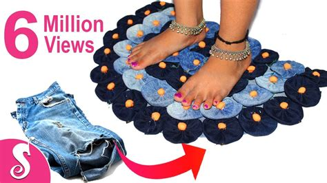 how to make a doormat from waste cloth recycling make awesome door mat rugs table mat