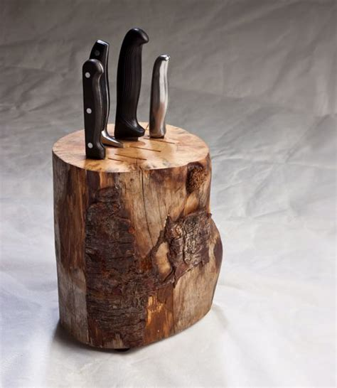 log knife block ducan meerding design country kitchens