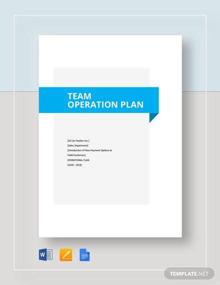 operational plan templates  word