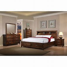 Brown Rustic Classic 6 Piece California King Bedroom Set
