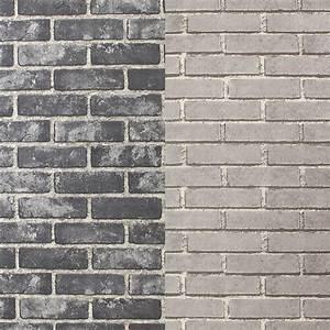Mur Effet Brique : ides de papier peint effet brique noir galerie dimages ~ Melissatoandfro.com Idées de Décoration