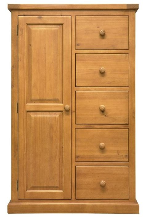 Single Wardrobe With Drawers by Buy Churchill Pine 1 Door 5 Drawer Combination Single