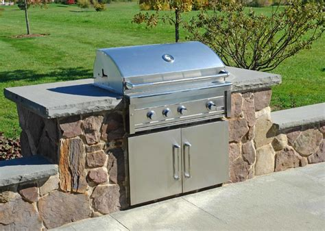 outdoor pit built in grill dining living area