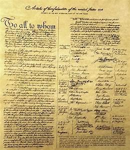 Free Materials--Articles of Confederation of 1778
