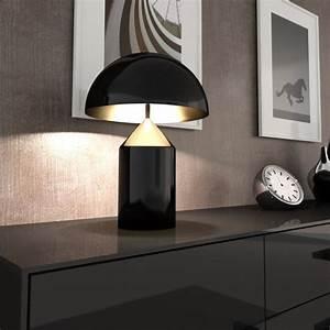 Lampe à Clipser : lampe poser atollo noir h70cm oluce luminaires nedgis ~ Teatrodelosmanantiales.com Idées de Décoration
