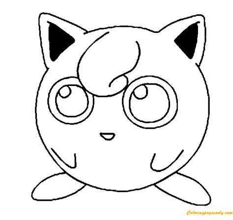jigglypuff pokemon coloring page  coloring pages
