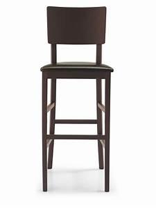 Tabouret Haut En Bois : cb1224 espresso pour bars et restaurants tabouret haut en bois assise en simili cuir hauteur ~ Teatrodelosmanantiales.com Idées de Décoration
