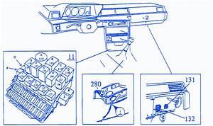 Volvo 760 Gle 1987 On The Dash Fuse Box  Block Circuit Breaker Diagram  U00bb Carfusebox