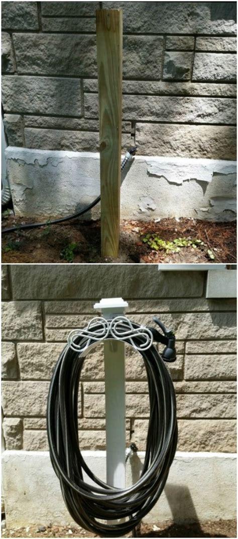 decorative diy garden hose storage ideas  spruce