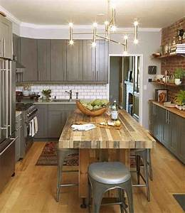 9 creative ways to live large in a small space gray With kitchen cabinets lowes with wall art office space