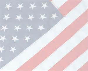 Faded American Flag as Background