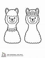 Llama Coloring Lama Unicorn Printable Sheets Valentines Printables Disney Flower Spring Popular sketch template