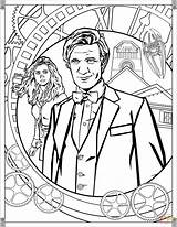 Doctor Coloring Eleventh Printables Printable Tardis Adults Adult Smith Matt Shows Mad Weeping Angel Wimey Wibbly Timey Wobbly Drawing Dalek sketch template
