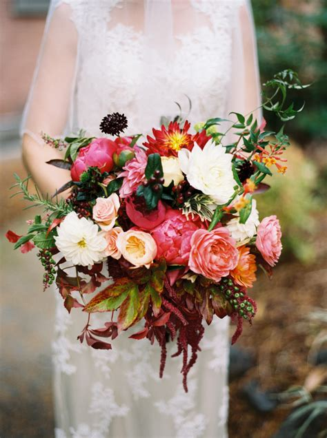 dark coral  burgundy bouquet elizabeth anne designs