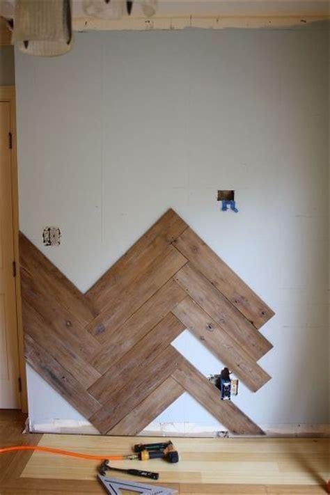 stunning herringbone plank wall upcycled