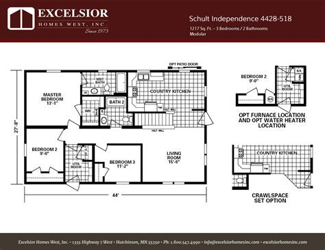 Schult Independence 518 Home Plan   Excelsior Homes West, Inc.
