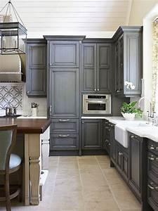 Gray Painted Kitchen Cabinets - Traditional - kitchen
