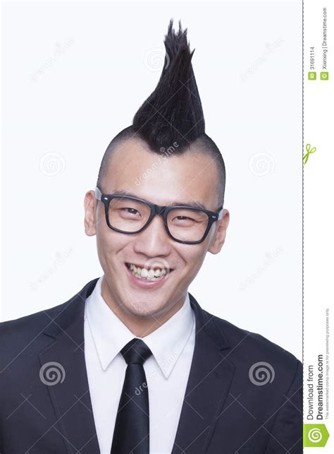 Well-dressed Young Man With Mohawk Portrait Stock Images ...