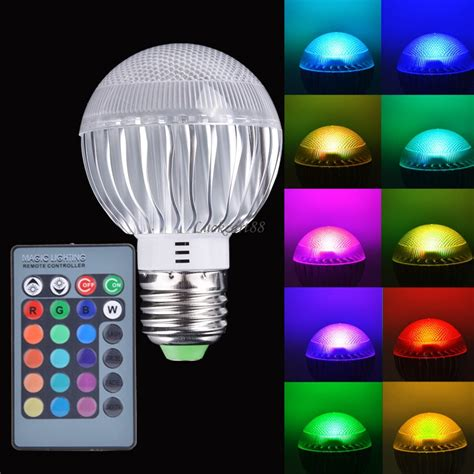 remote control color changing lights new e27 15w rgb led light color changing l bulb 85 265v