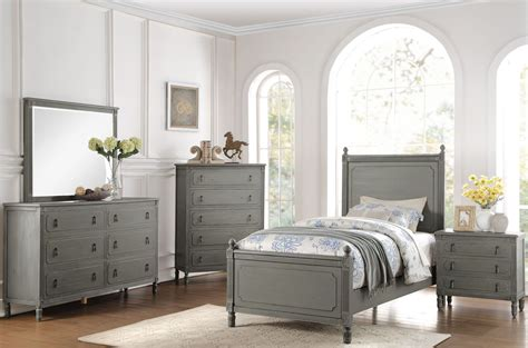 gray bedroom set aviana grey youth poster bedroom set from homelegance