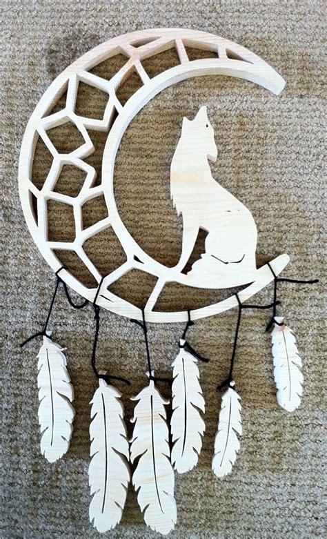coyotes crescent moon dreamcatcher  werecraft  deviantart
