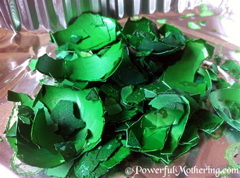 dye egg shells  kids crafts