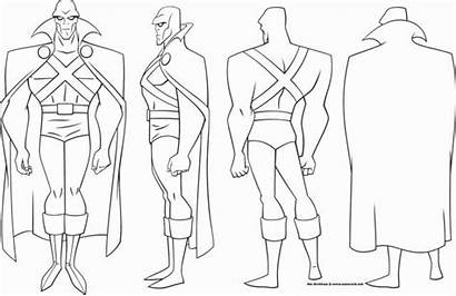 Turnaround Justice League Martian Manhunter Character Sheets