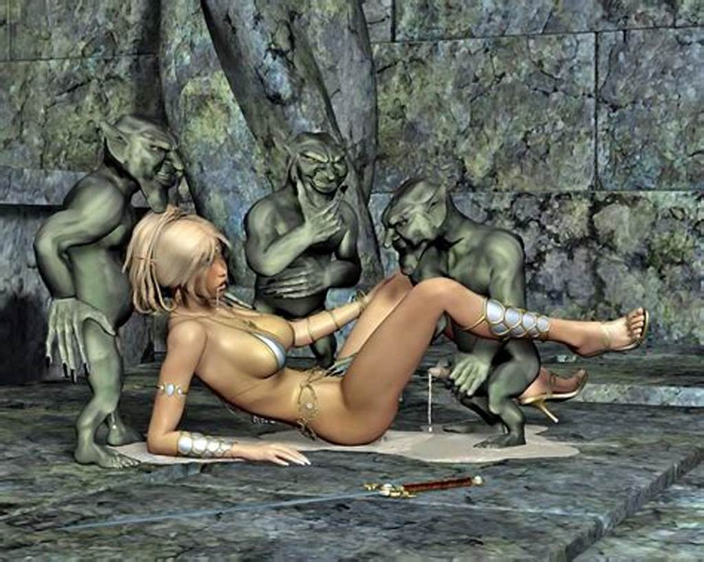 #Sweet #Elf #Girls #Being #Raped #And #Busted #By #3D #Evil #Alien #At