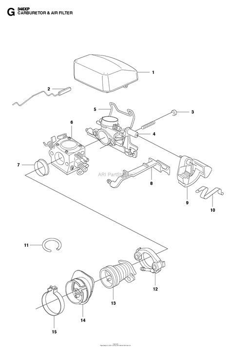 husqvarna xp   parts diagram  carburetor air