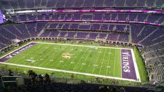 U.S. Bank Stadium Views From Sections In